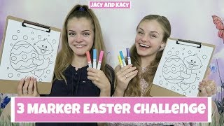 3 Marker Easter Challenge ~ Jacy and Kacy