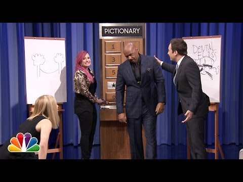 Pictionary with Kristen Bell, Steve Harvey and Demi Lovato - Part 2