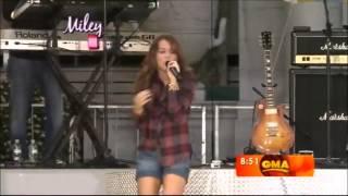 Miley Cyrus live at Good Morning America (HD) (07.18.2008)