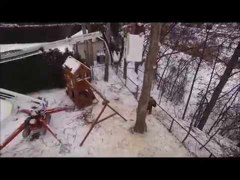 Aerial perspective of tree removal Easy Lift 59-30AJ