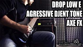 8 Strings Drop LOW E - AGGRESSIVE Djent Metal Tone w/ AXE FX