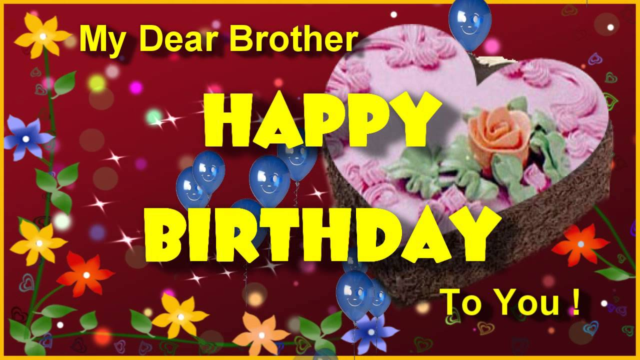 Happy Birthday Greeting For Brother Birthday Ecard For