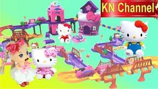 BÚP BÊ KN Channel BIẾN THÀNH KHỔNG LỒ TRONG THÀNH PHỐ MÈO HELLO KITTY Đồ chơi trẻ em CỦA BÉ NA