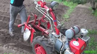 The first and second hilling of potatoes MOTOBLOCK!