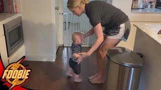 BABY ROOK TAKES HIS FIRST STEPS !! - Family Vlog