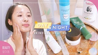 Day + Night Skincare Routine for Oily & Dry Skin Types   Get Clear Skin