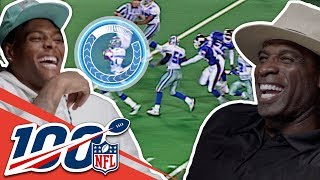 Deion Sanders & Jalen Ramsey Check Out Their Most Iconic Moments | NFL 100 Generations