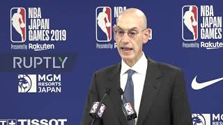 Japan: NBA commissioner defends HK tweet as 'freedom of expression'