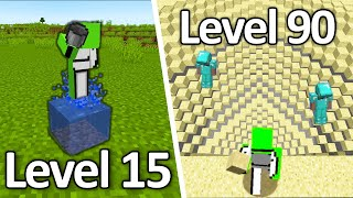 Minecraft IMPOSSIBLE 200 IQ Plays (From Level 1 to Level 100)