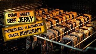 Cómo Hacer BEEF JERKY Casero (CARNE SECA) Para Ración de Emergencia y Snack Bushcraft