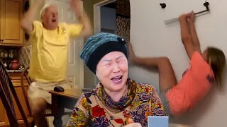 Korean grandma reacts to America's Funniest Home Videos *Try not to laugh*