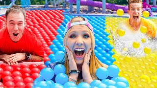 Extreme ONE COLOR Ball Pit Pool Challenge!