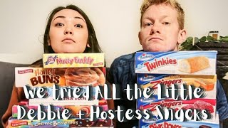 We try all Hostess + Little Debbie snack cakes! | Kyle&Amy