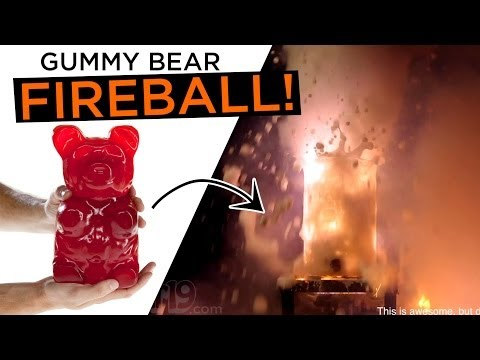 Dropping A 5 Pound Gummy Bear Into Potassium Chlorate Causes This