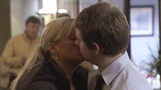 Dawn kisses Tim! - The Office Christmas Special - BBC Comedy Greats