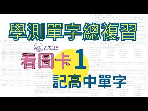 【外文列車】高中常用單字 1 | 如何準備學測英文 第一集