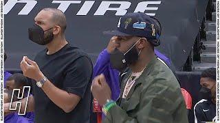 LeBron James In Disbelief After No Whistle - Lakers vs Raptors | April 6, 2021