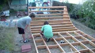 How To Build A BMX Bike Half Pipe