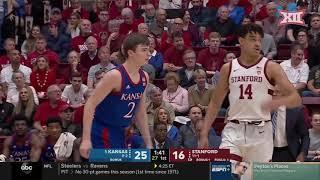 Kansas vs. Stanford Men's Basketball Highlights