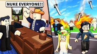 I bought ROBLOX PRESIDENT powers and ruined their game