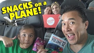 SNACKS ON A PLANE!!! Japan Crate Unboxing on the Go!
