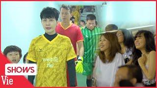 Jack và các nghệ sĩ tranh tài cùng dàn cầu thủ tuyển quốc gia, Hậu Hoàng -Khánh Vân cổ vũ nhiệt tình