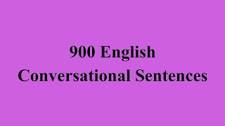 Daily English Conversations - 900 English Conversational Sentences الحلقة الثانية