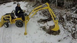 cub cadet 1450 Homemade Backhoe and loader video 2