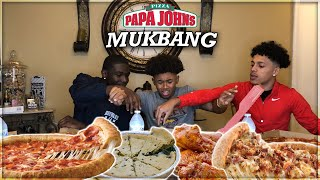 PAPA JOHN'S PIZZA MUKBANG  |  Open Discussion Gone Wrong