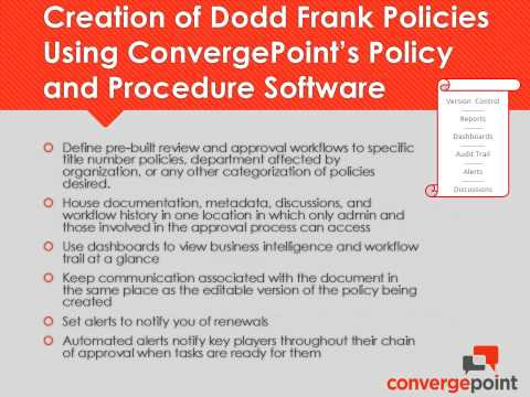 The Cost Effective Way to Ensure Dodd Frank Policy Management Compliance