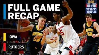 Full Game Recap: Iowa at Rutgers | Big Ten Basketball