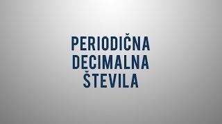 Periodična decimalna števila