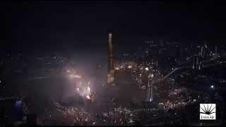 ブルジュ・ハリファの2015年カウントダウン花火とライトアップの模様