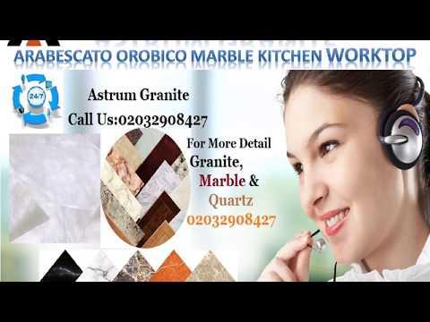 Arabescato Orobico Marble Kitchen Worktop in London - Astrum Granite