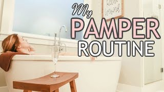 AT HOME PAMPER NIGHT ROUTINE 2018 // DIY SPA NIGHT //  RELAX WITH ME