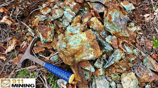 High Grade Gold, Silver & Copper Ore From A Mine Dump!