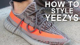 HOW TO WEAR YEEZYS | HOW TO STYLE YEEZY BOOST 350's |  Alex Costa