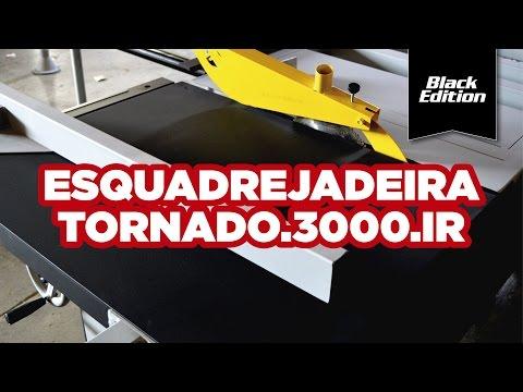 Esquadrejadeira Tornado 3000Mm Eixo Inclinável Trifásico Maksiwa - Vídeo explicativo