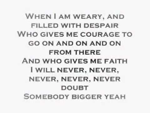 Whitney Houston Somebody Bigger Than You And I Lyrics.wmv