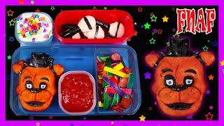 How to Make a Freddy Fazbear Custom Pizza Lunch - DIY Five Nights at Freddy's Food Art