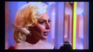 Lady Gaga 73rd Golden Globe Acceptance Speech