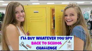 I'll Buy Whatever You Spy ~ Back to School Challenge ~ Jacy and Kacy