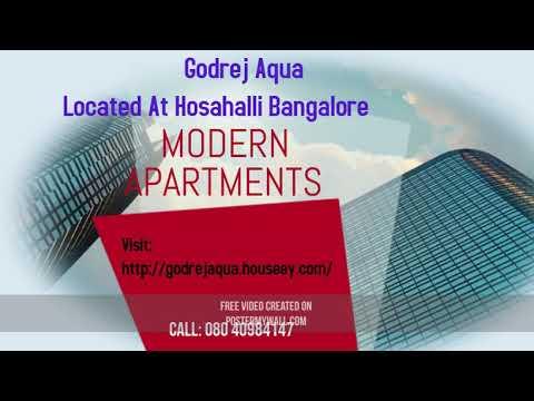 Godrej Aqua Apartment Located At Hosahalli Bangalore