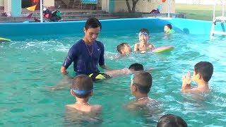 Hiệu quả từ việc mở bể bơi nhân tạo trong mùa hè cho trẻ nông thôn