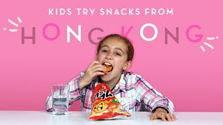 Kids Try Snacks from Hong Kong | Kids Try | HiHo Kids