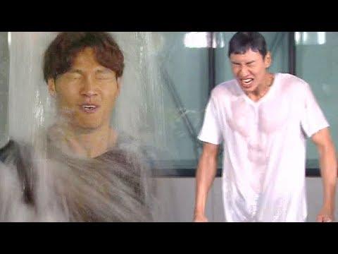 김종국X이광수, 허세로 넘치는 한겨울 물폭탄 '반전근육 이광수' 《Running Man》런닝맨 EP516