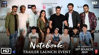 Notebook | Trailer Launch Event | Salman Khan, Pranutan Bahl, Zaheer Iqbal, Nitin Kakar