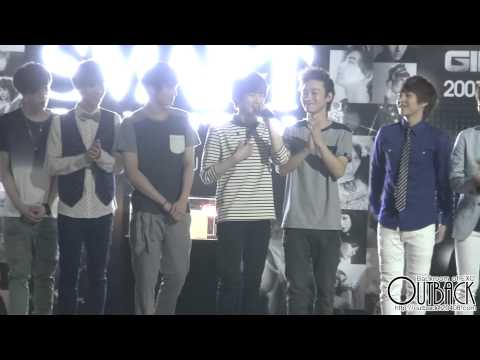 120810 SM ART EXHIBITION EXO 무대 위 인터뷰 1080p