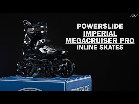 Video POWERSLIDE Roller Freeskate IMPERIAL MEGACRUISER PRO 125MM Black chrome