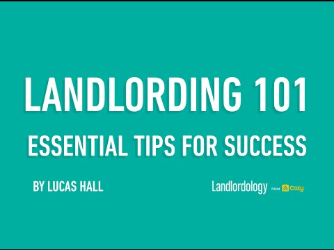Webinar: Landlording 101 (Dec 15, 2015) Essential Tips for being a Successful Rental Manager, Cozy